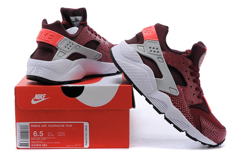 Nike Huarache Femme Blanche Et Rouge